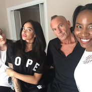 Hanging out at the house with Daisy Guttridge, Mercedes Edison and Shanice Ross