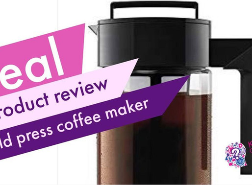 Real Product Review: Cold Press Coffee Maker
