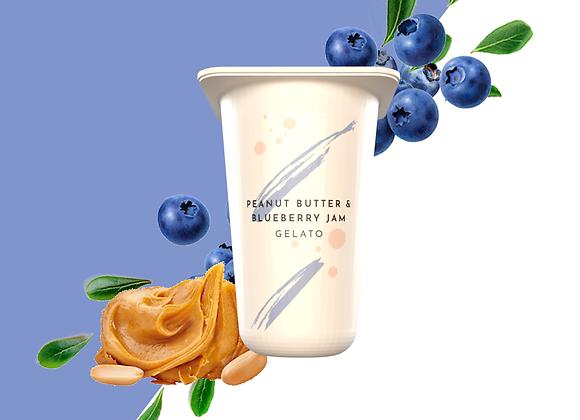 Peanut Butter & Blueberry Jam Gelato