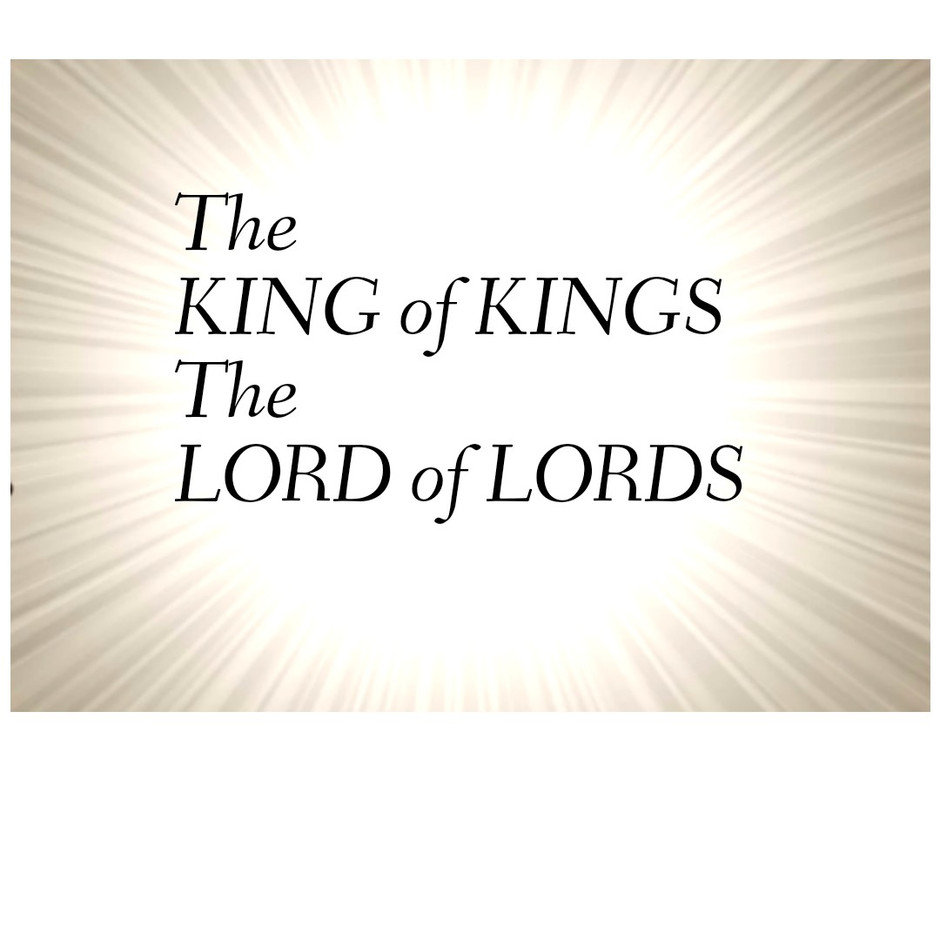 YESHUA - King of Kings Lord of Lords !
