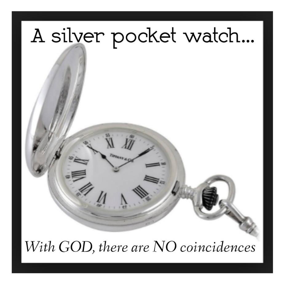A silver pocket-watch