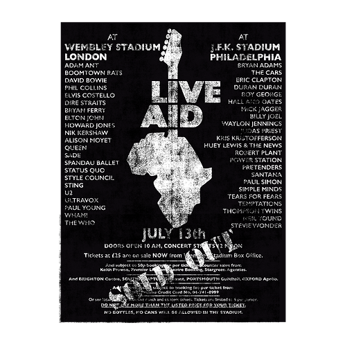 Live Aid Poster Print