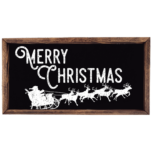 Merry Christmas - Santa Sleigh