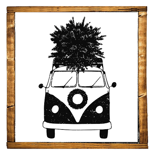 Surf Van w/ Christmas Tree