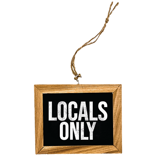 Locals Only Ornament