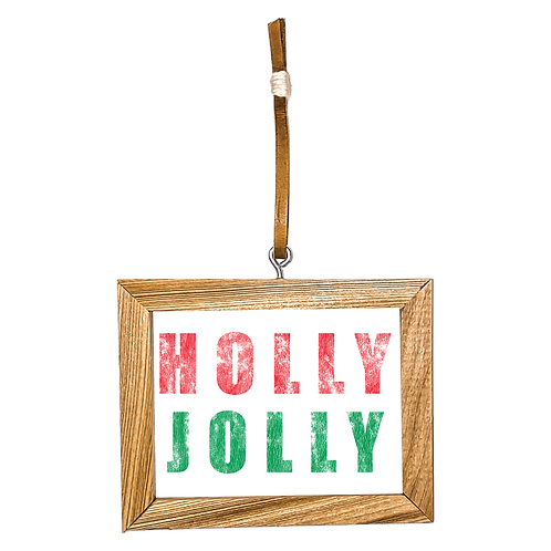 Holly Jolly Ornament