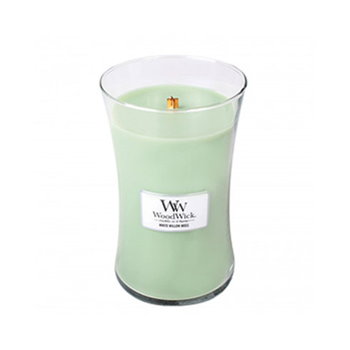 WHITE WILLOW MOSS LARGE HOURGLASS CANDLE