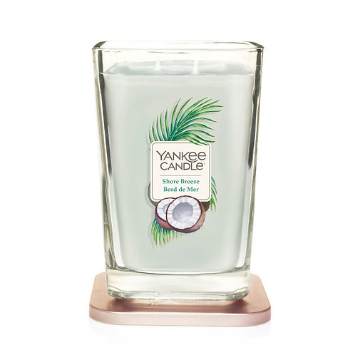 LARGE 2-WICK SQUARE CANDLE SHORE BREEZE