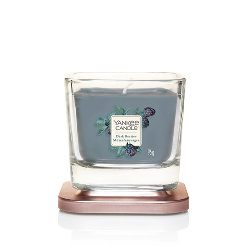 SMALL 1-WICK SQUARE CANDLE DARK BERRIES