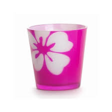 FLOWER DYE VOTIVE HLD. PINK