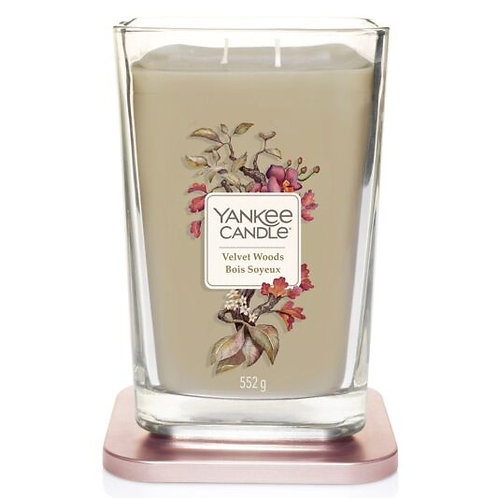 LARGE 2-WICK SQUARE CANDLE VELVET WOODS