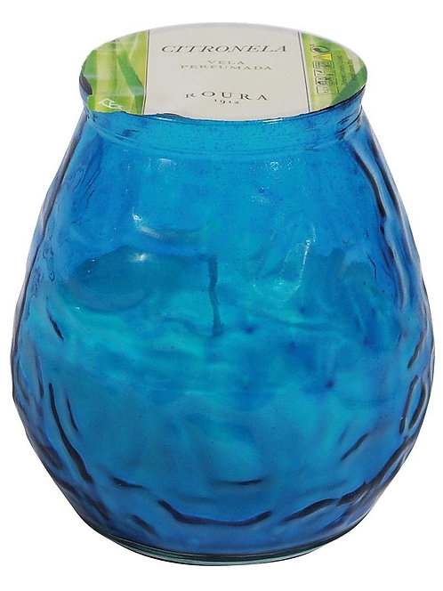 CITRONELLA WINDLIGHT TURQUOISE GLASS