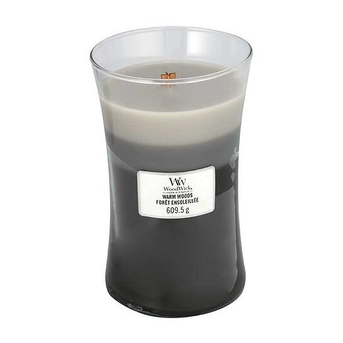 WARM WOODS TRILOGY LARGE HOURGLASS CANDLE