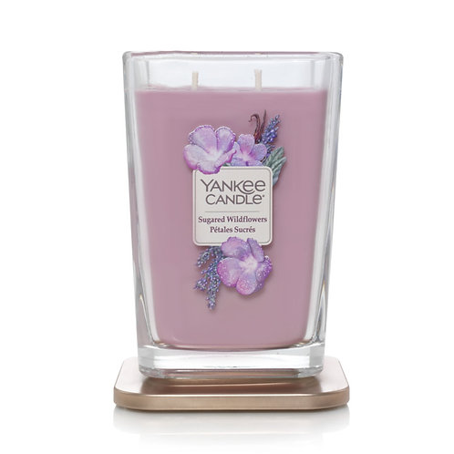 LARGE 2-WICK SQAURE CANDLE SUGARED WILDFLOWERS