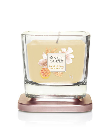 SMALL 1-WICK SQUARE CANDLE RICE MILK & HONEY