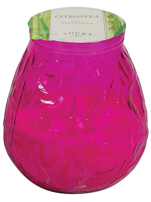 CITRONELLA WINDLIGHT FUCHSIA GLASS