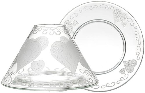 ETCHED HEART - LARGE SHADE & TRAY