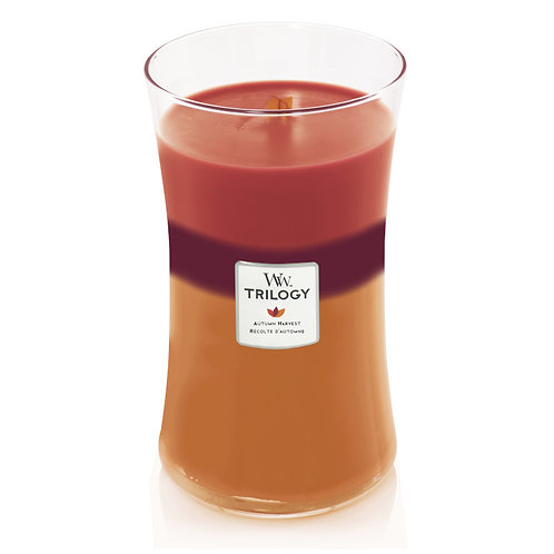 AUTUMN HARVEST TRILOGY LARGE HOURGLASS CANDLE