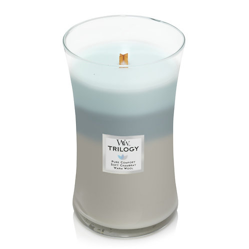WOVEN COMFORTS TRILOGY LARGE HOURGLASS CANDLE