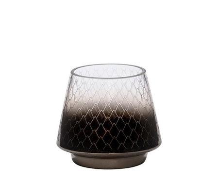 MODERN PINECONE - LANTERN - ETCH GLASS SMALL