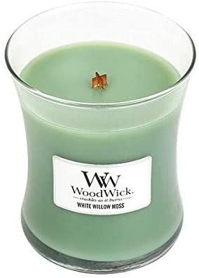 WHITE WILLOW MOSS MEDIUM HOURGLASS CANDLE