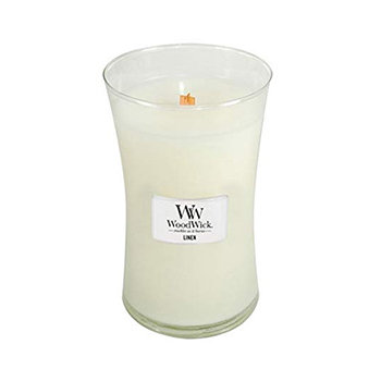 LINEN LARGE HOURGLASS CANDLE