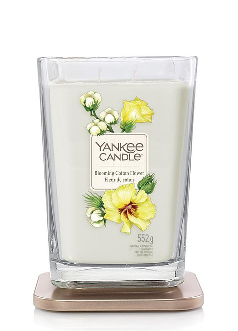 Blooming Cotton Flower Large 2-Wick Square Candle