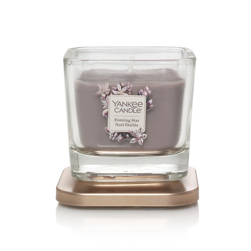 SMALL 1-WICK SQUARE CANDLE EVENING STAR