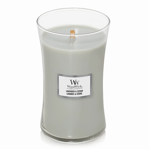LAVENDER & CEDER LARGE HOURGLASS CANDLE