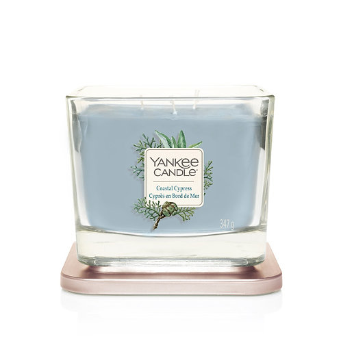 MEDIUM 3-WICK SQUARE CANDLE COASTAL CYPRESS