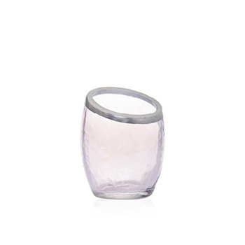 PEARLESCENT CRACKLE PURPLE VOTIVE HOLDER