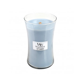 SOFT CHAMBRAY LARGE HOURGLASS CANDLE