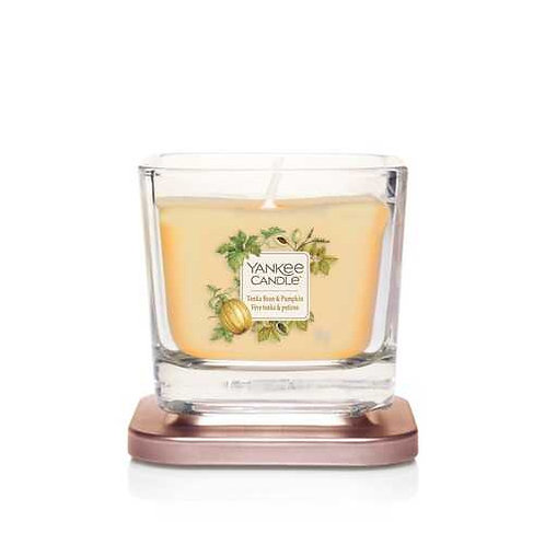 SMALL 1-WICK SQUARE CANDLE TONKA BEAN & PUMPKIN
