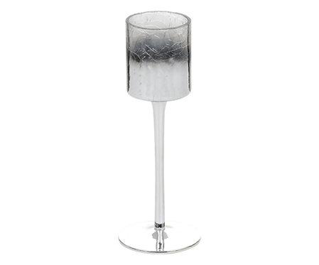 PLATINUM FADE - STEMMED VOTIVE HOLDER