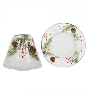 PINE CONE CRACKLE - SML SHADE & TRAY