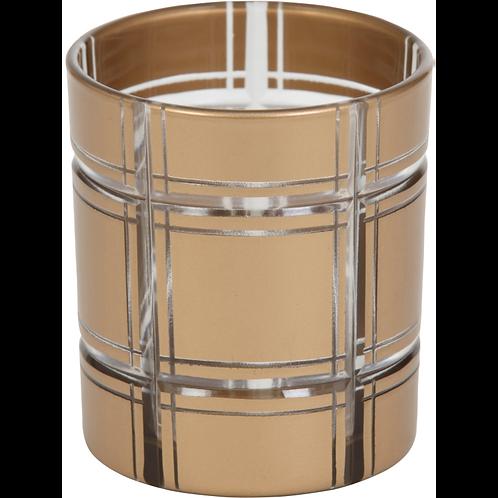 GOLDEN ETCHED GLASS - VOTIVE HOLDER