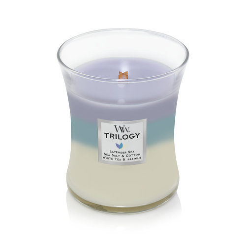 CALMING RETREAT TRILOGY MEDIUM HOURGLASS CANDLE