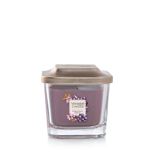 Grapevine & Saffron Small 1-Wick Square Candle