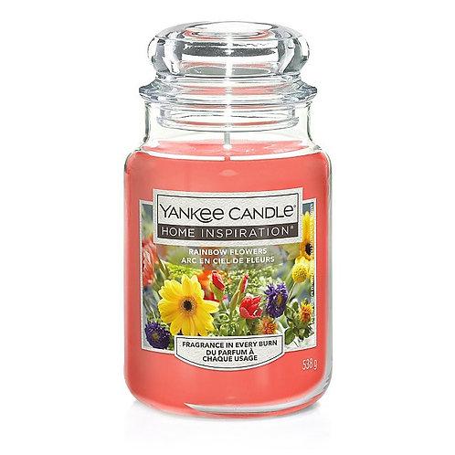 HOME INSPIRATION LRG JAR RAINBOW FLOWERS