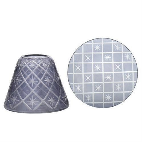 GREY ETCHED STAR SML SHADE & TRAY