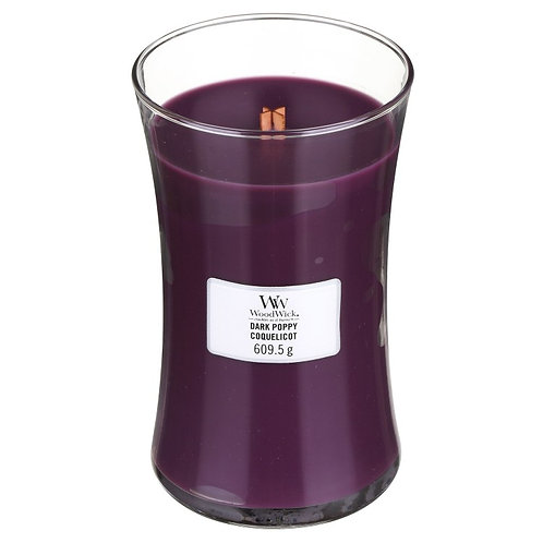 DARK POPPY LARGE HOURGLASS CANDLE
