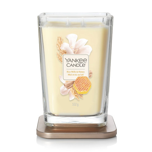 LARGE 2-WICK SQUARE CANDLE RICE MILK & HONEY