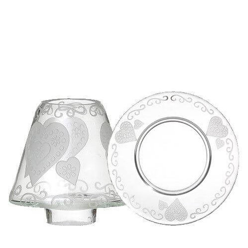 ETCHED HEART - SMALL SHADE & TRAY