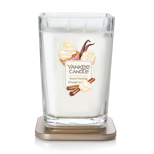 LARGE 2-WICK SQUARE CANDLE SWEET FROSTING