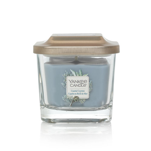 SMALL 1-WICK SQUARE CANDLE COASTAL CYPRESS
