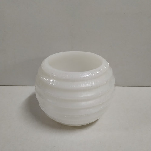 FLOATING RIBBED ROUND 15CM WHITE
