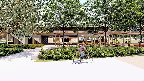 Caption: East Shores Stage 1B café concept
