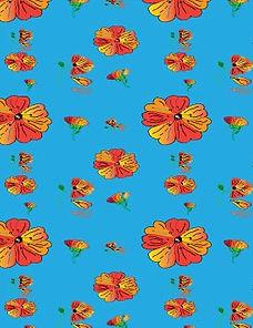 Orange-Flowers-with-Blue-backgrd copy -