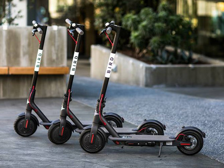 We've partnered with Bird electric scooters