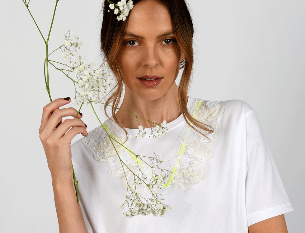 Billie Embellished White T-Shirt